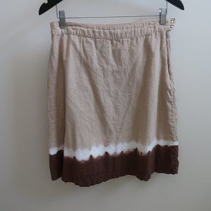 OLD NAVY BROWN OMBRE COTTON/LINEN SKIRT SIZE 4